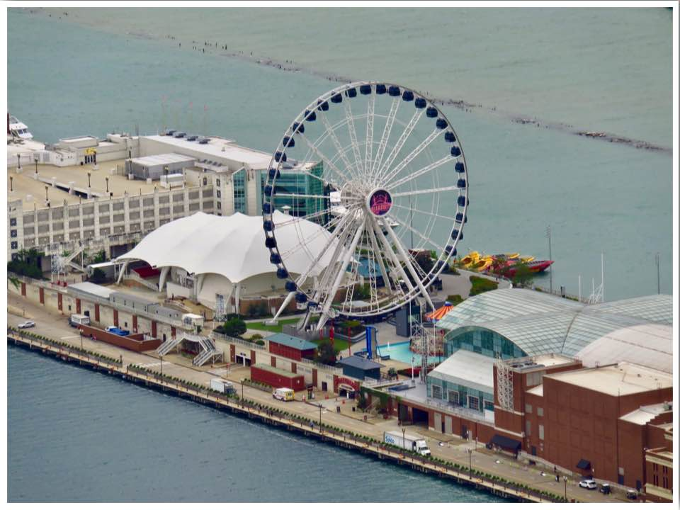 Chicago Navy Pier from 360 Chicago