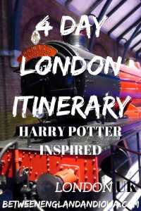 London Itinerary 4 days. A Harry Potter inspired guide to 4 days in London!