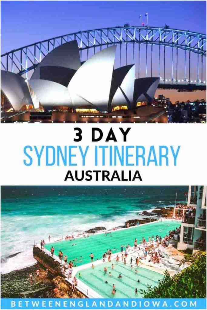 Sydney Itinerary 3 Day Australia