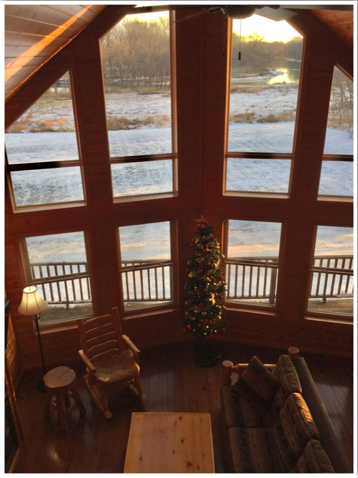 Red Cedar Lodge Iowa Cabin View
