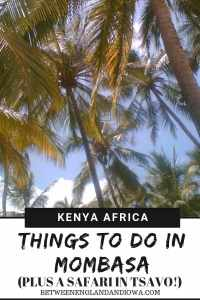 Things to do in Mombasa Kenya including a side trip to Tsavo National Park for an African safari!