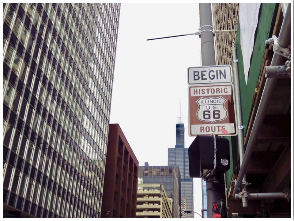 Route 66 Chicago Start Sign New