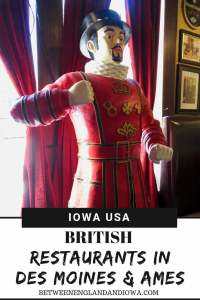 British places to eat in Des Moines and Ames Iowa