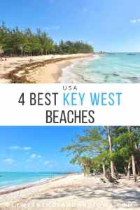 Key West Beaches and Fort Zachary Taylor State Park Florida Keys USA