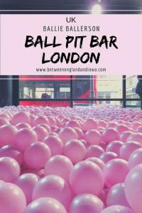 Ballie Ballerson Adult Ball Pit Bar London