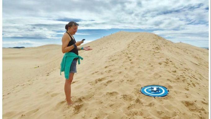 Drone Silver Lake Sand Dunes Michigan