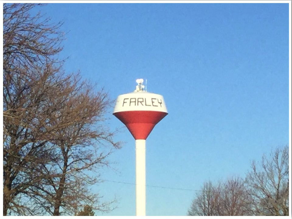 Highway 20 Iowa Farley Water Tower