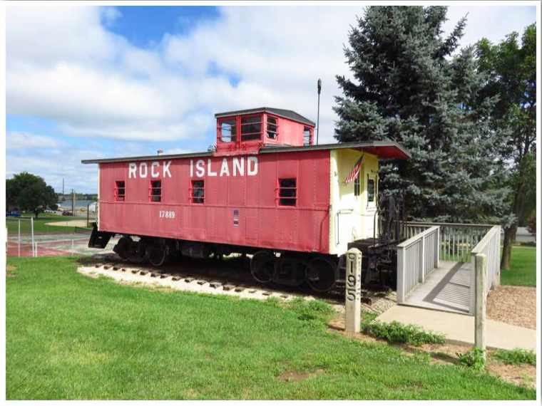 Highway 20 Iowa Epworth Rock Island Caboose
