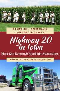 Highway 20 Iowa USA