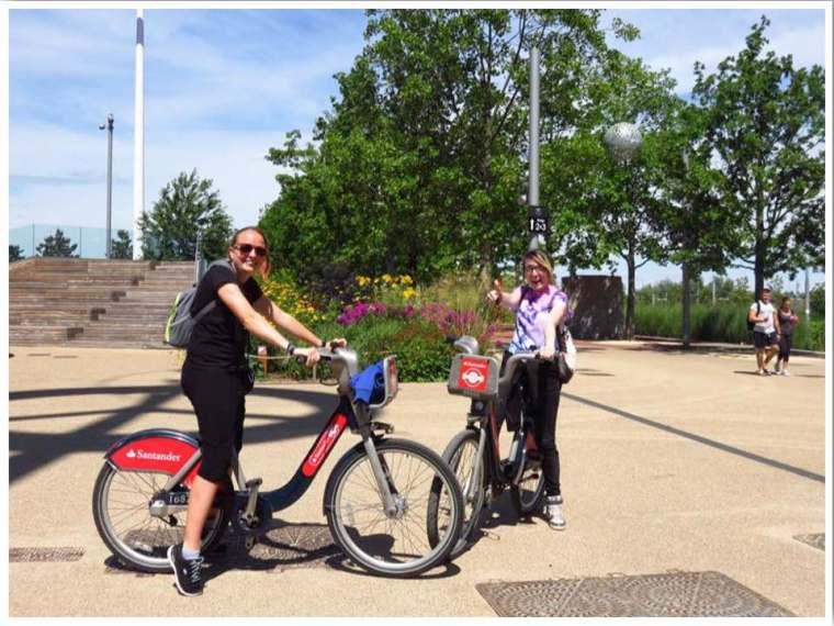 London Santander Bikes Queen Elizabeth Olympic Park