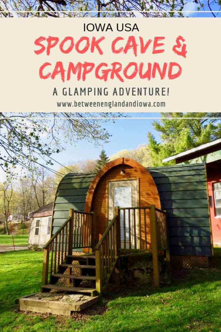 Spook Cave and Campground Iowa. Glamping in Iowa USA