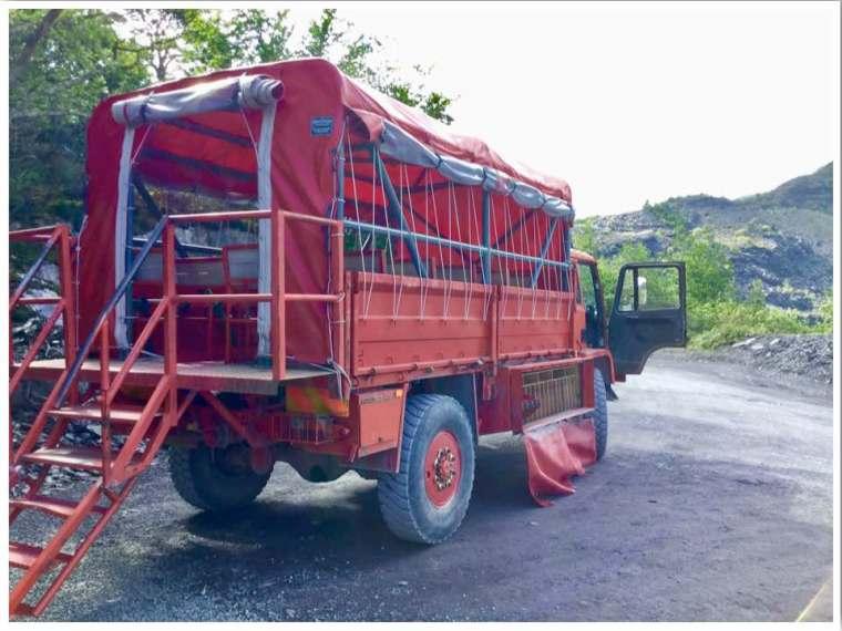 Zip World Penrhyn Quarry Truck