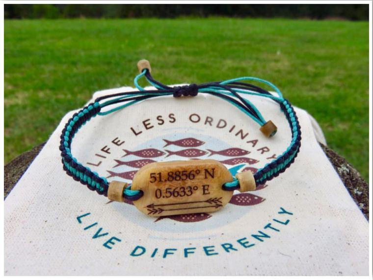 Coordinates travel bracelets
