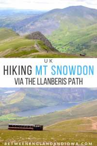 Hiking Mount Snowdon via the Llanberis Path in Wales, UK