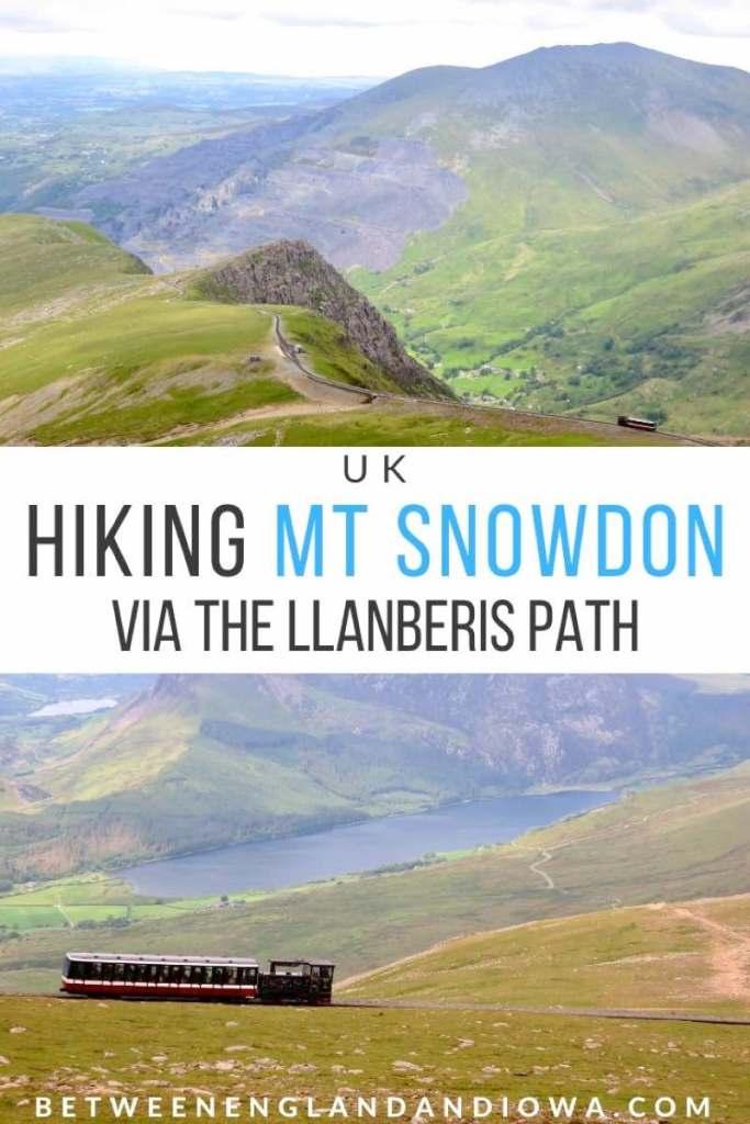 Hiking Mount Snowdon via the Llanberis Path in Wales, UK