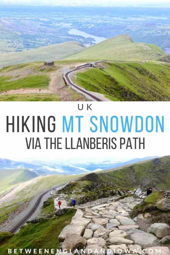 Hiking Mount Snowdon in Snowdonia National Park Wales UK