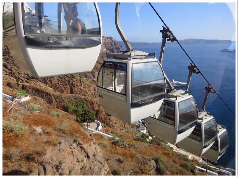 Fira Cable Car Santorini