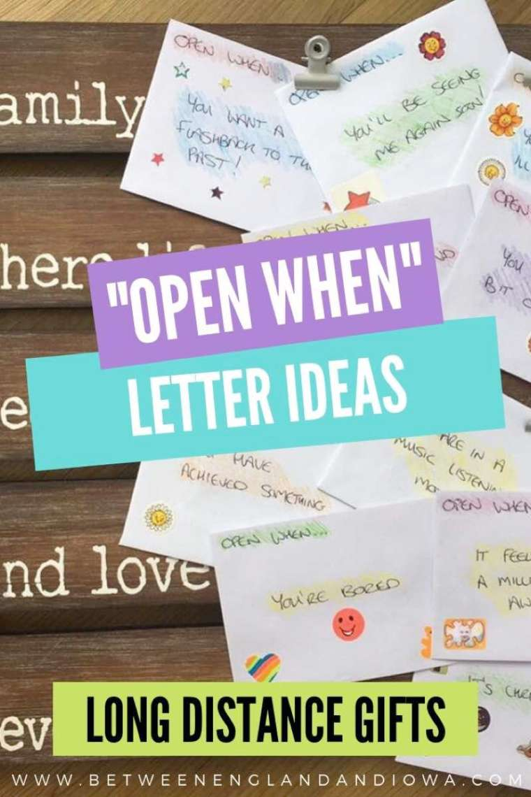 Open When Letter Ideas for Long Distance Gifts