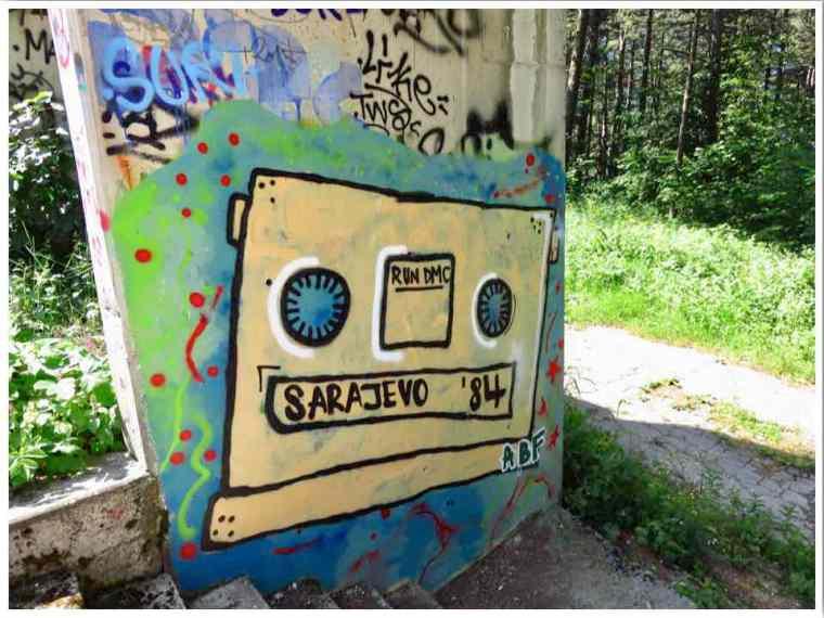 Sarajevo Bobsled Track Street Art