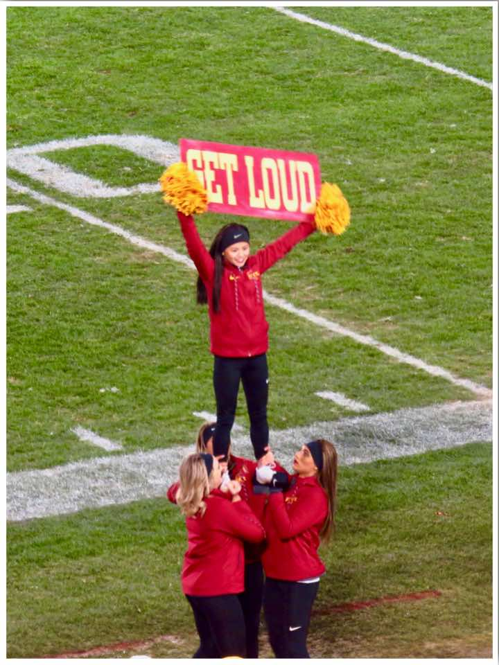American Football Iowa State University Cheerleaders