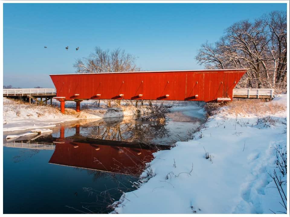 Hogback Bridge in Winterset Iowa photo credit Teddi Yaeger