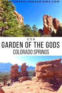 Hiking at Garden of the Gods in Colorado Springs USA
