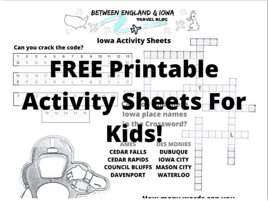 Free Iowa Activity Pages
