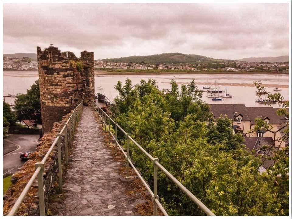 Conwy Castle Walls North Wales