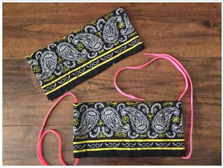 Make two face masks from one bandana