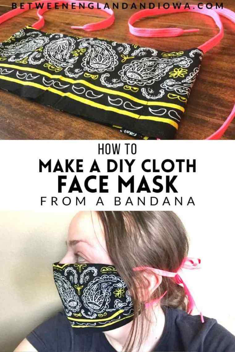 How to make a DIY Cloth Face Mask From A Bandana