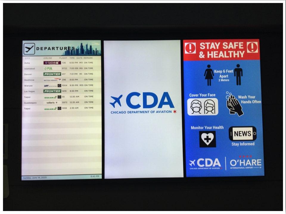 June 2020 Chicago ORD International Departures