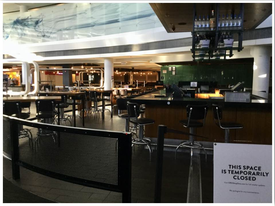 June 2020 Chicago ORD International Terminal 5 Closed Restaurants