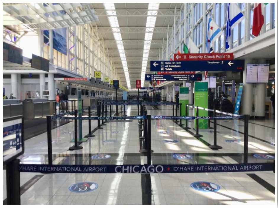 Chicago O'hare International Terminal 5 June 2020