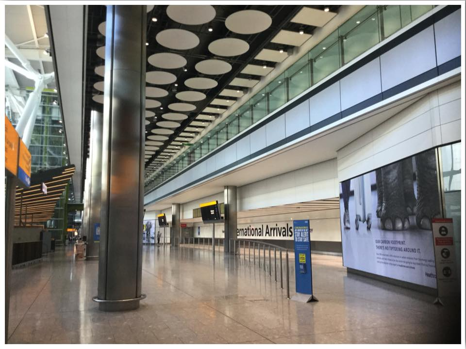 London Heathrow T5 International Arrivals Empty June 2020