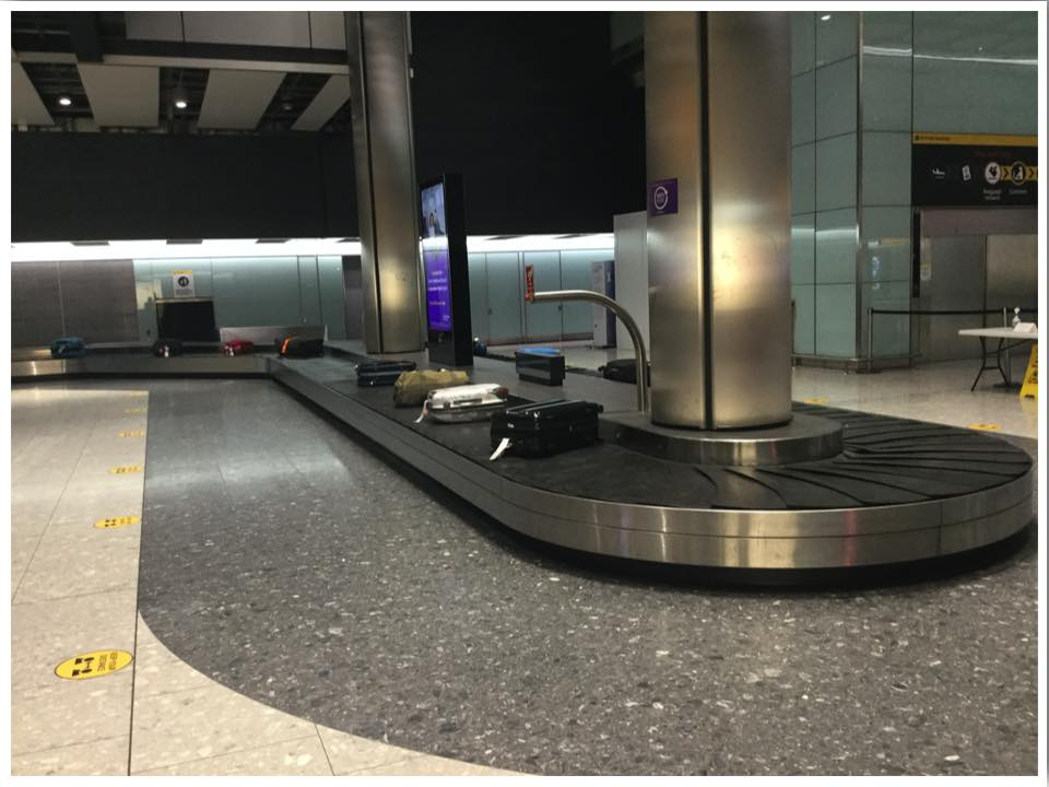 London Heathrow T5 Baggage Reclaim Empty June 2020