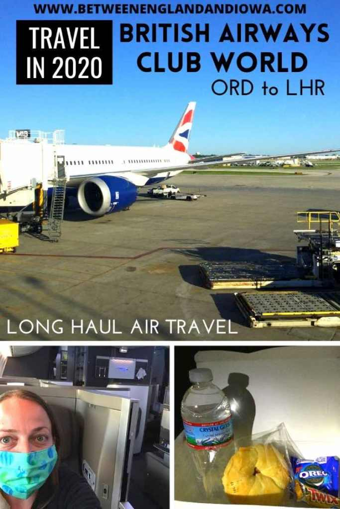 What it's like to fly long haul British Airways Club World from USA to UK in 2020