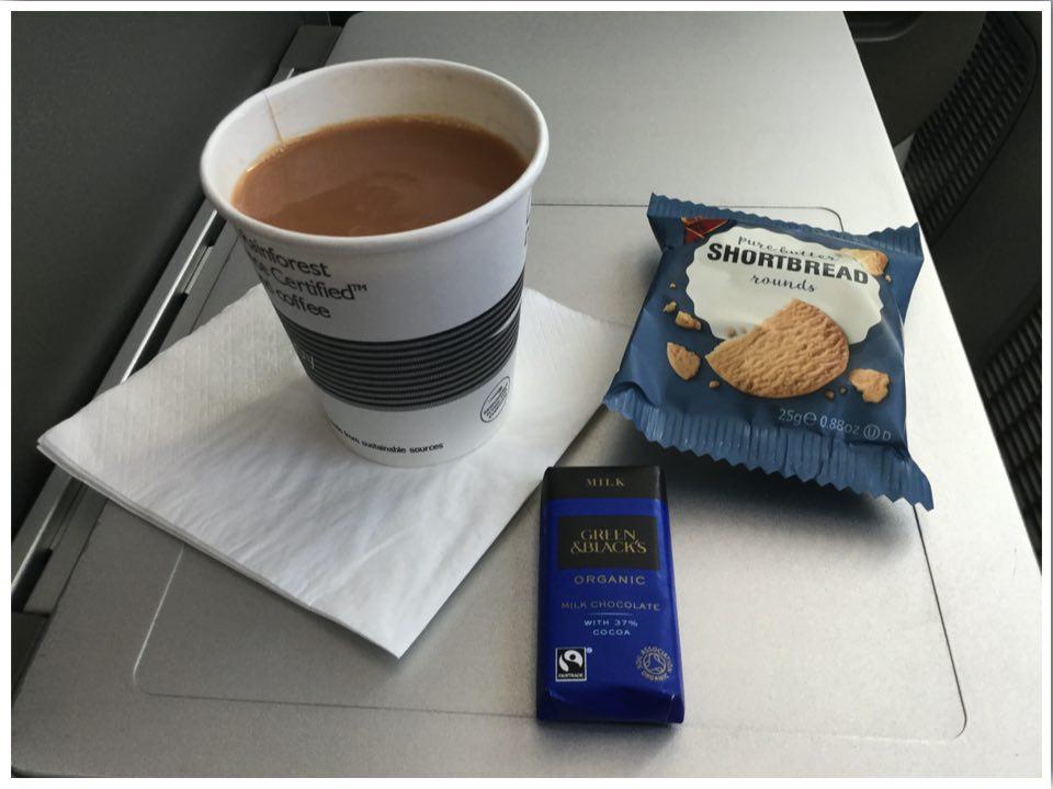 British Airways Club World Long Haul Breakfast 2020: Tea, Shortbread, Chocolate