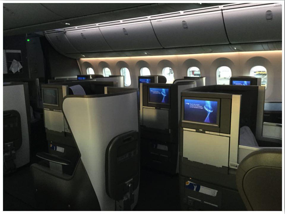 British Airways Club World Cabin Dreamliner