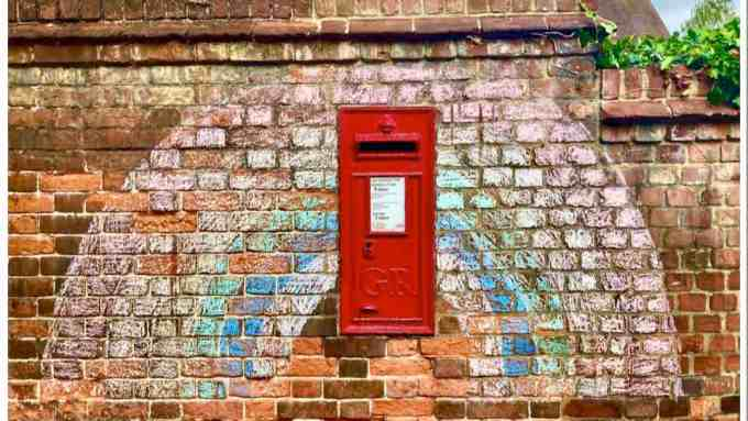NHS Rainbow Red Postbox Braintree Essex