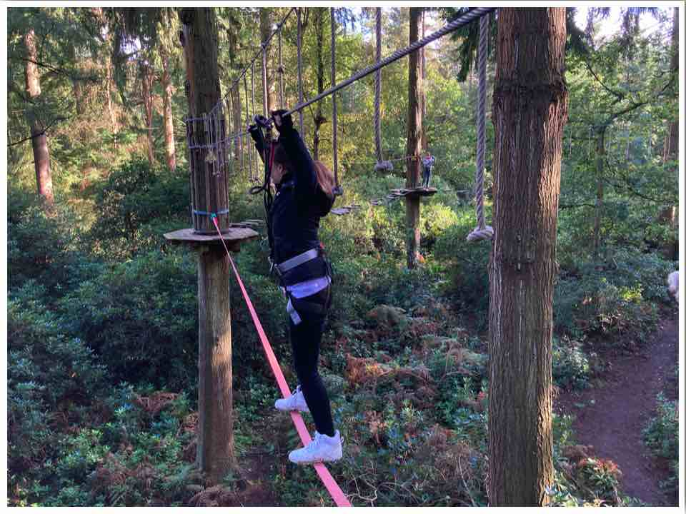 Go Ape Slack Line Obstacle Thetford Forest
