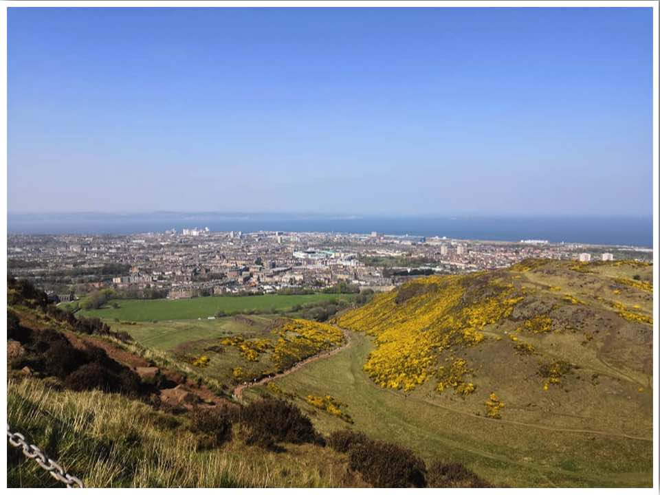 Arthurs Seat in Edinburgh Scotland