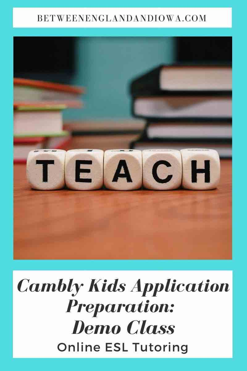 Cambly Kids Application Preparation: Demo Class