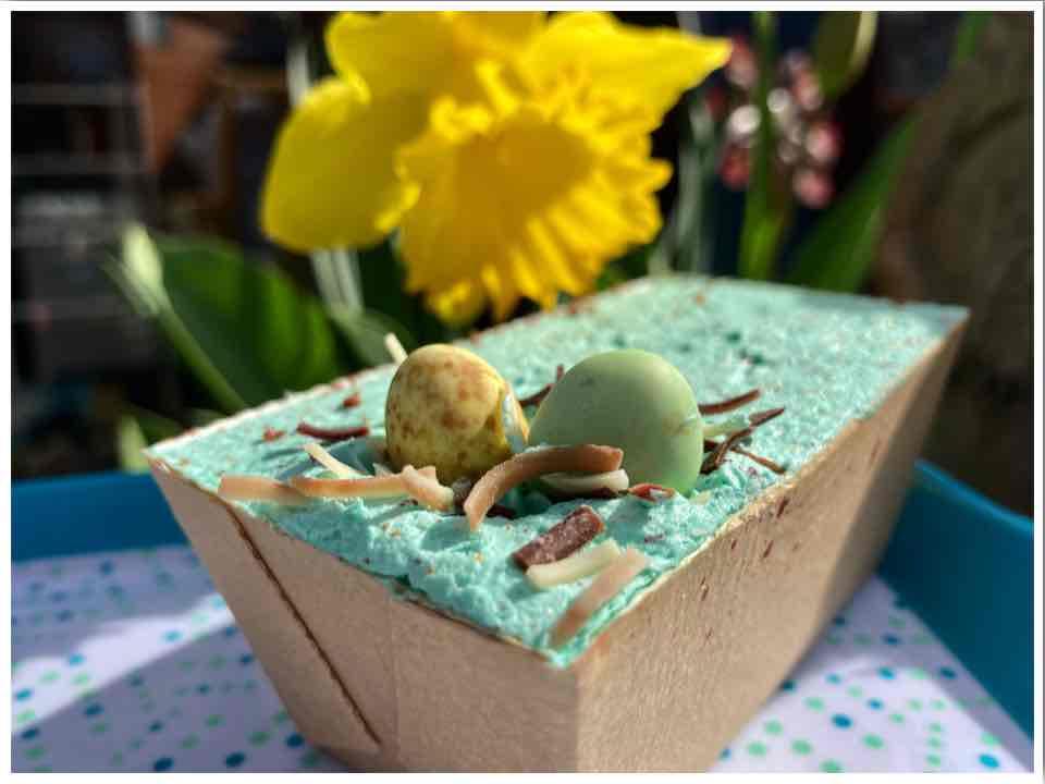 Piglets Pantry Easter Garden Loaf Cake