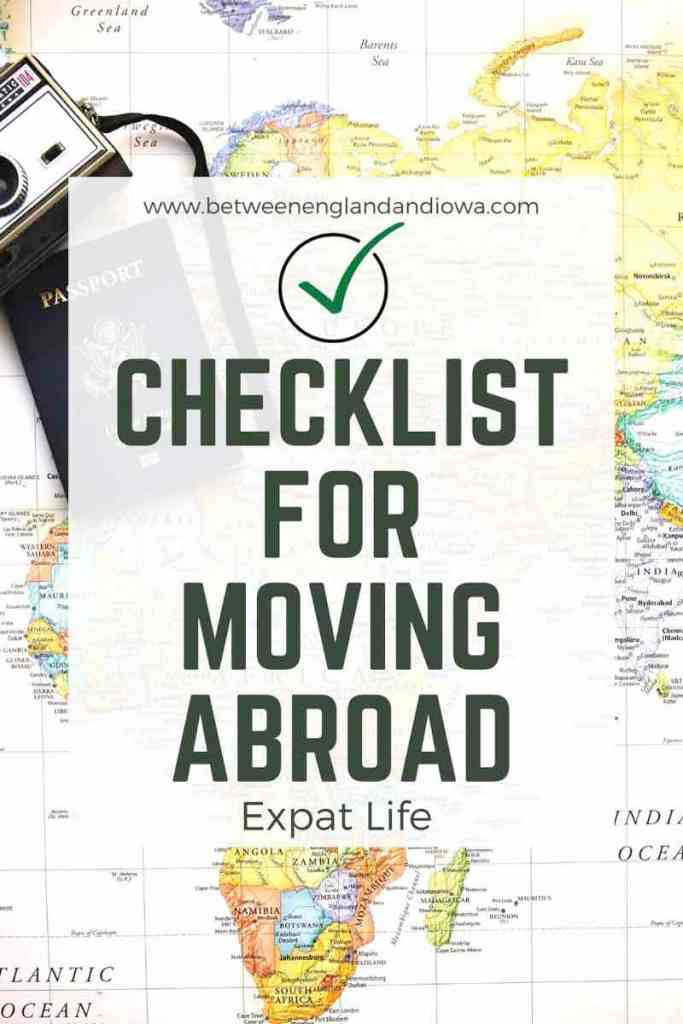 Checklist For Moving Abroad