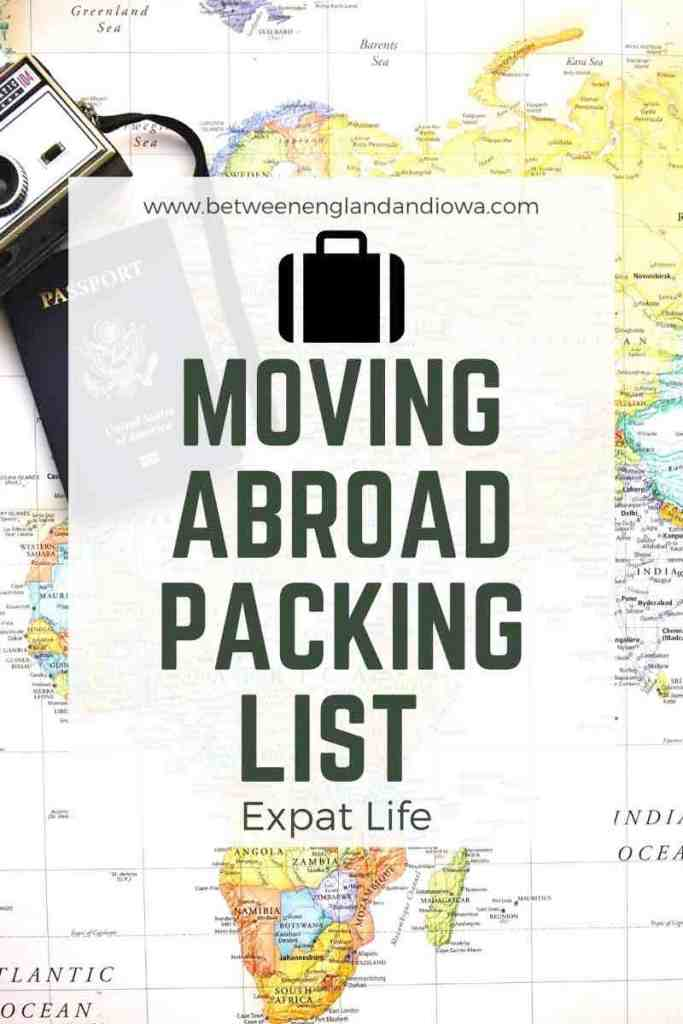 Moving abroad packing list
